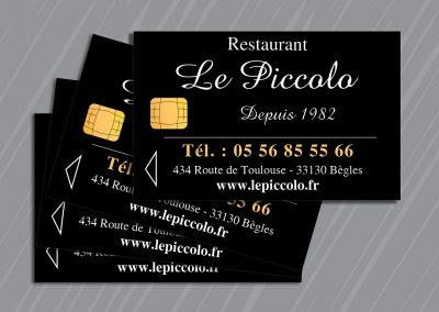 Carte de visite Restaurant Le Piccolo